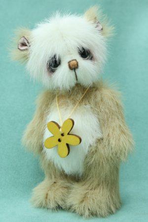 Miniature artist bear   Buttercup