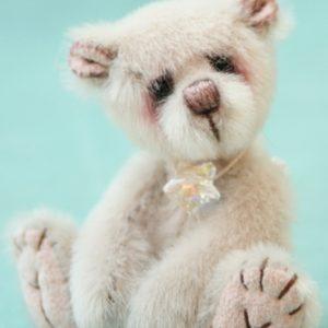 Miniature artist bear - moonbeam