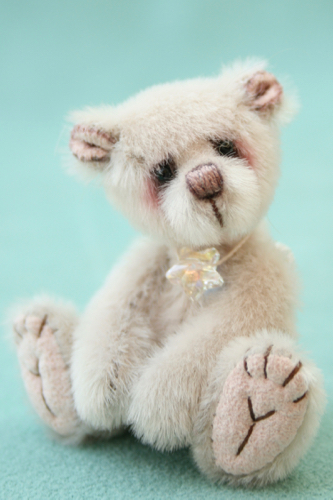 Miniature artist bear - moonbeam