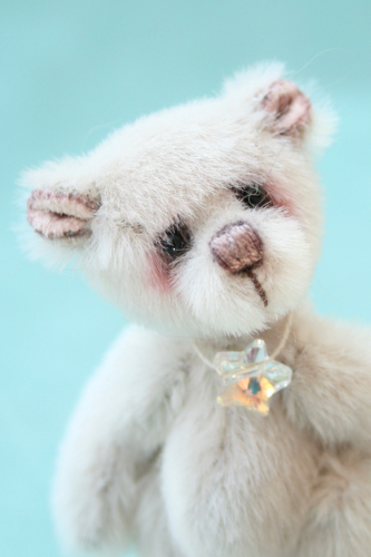 Miniature artist bear | moonbeam