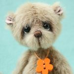 Miniature Artist Bear | Pumpkin