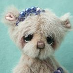 Artist teddy bear -devotion created by Jane Mogford of pipkins bears