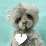 pipkins artist teddy bear by Jane Mogford