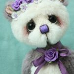 alpaca artist bear by Jane Mogford of Pipkins bears