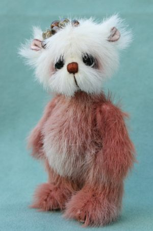 artist teddy bear, miniature bear by pipkins bears