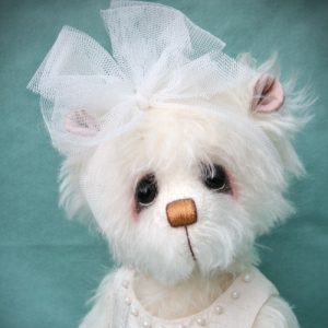 Artist teddy bear winter theme by Pipkins Bears