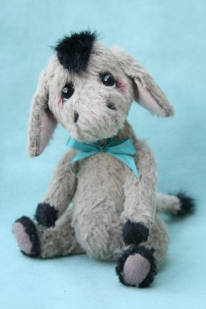 Artist teddy bear friend - Donkey created by Jane Mogford of Pipkins Bears