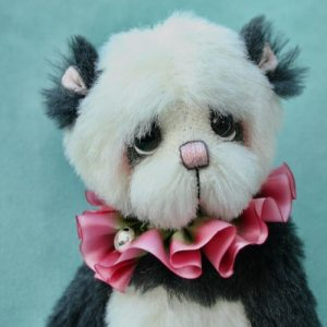 Alpaca panda teddy bear by Pipkins Bears