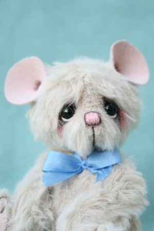 Miniature mouse - Artist teddy bear friend created by Jane Mogford of Pipkins Bears
