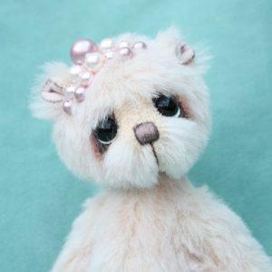 Alpaca artist teddy bear