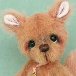 Nibbles the squirrel , created by Jane Mogford of Pipkins bears