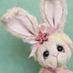 Rhubarb bunny - artist bear , created by Jane Mogford of Pipkins bears